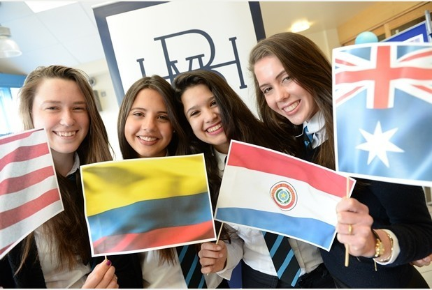 28-04-2015 Biddulph High. Four overseas students are spending five months at Biddulph High School as part of a scheme organised by Study Abroad UK. They are all based in the school sixth form.    Left to right, Jessie Hendren, aged 16, from California, Mariana Escobar, aged 17, from Colombia, Camila Sosa-Flores, aged 17, from Paraguay  and Alice Lamont, aged 16, from Melbourne.      I'm writing a lead on their placements for the education supplement.  Reporter: Kathie McInnes.  Category: Education supplement lead.  Date: Tuesday, April 28.  Time: 1.45pm.  Address: Biddulph High, in Conway Road, Biddulph.